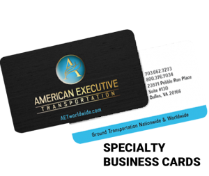 full color specialty business cards