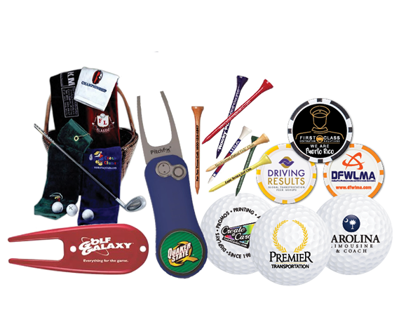 Branded golf Balls, Golf Towels, Ball Markers, Golf Accessories
